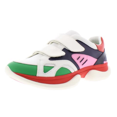 Tory Sport Womens Bubble Fashion Sneakers Leather Low Top - Snow White/Multi