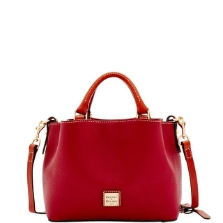 Dooney & Bourke Pebble Grain Mini Barlow (Introduced by Dooney & Bourke at $228 in Nov 2016) - Wine