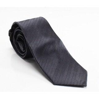 Black Brown 1826 NEW Charcoal Gray Mens Herringbone Skinny Silk Necktie