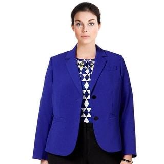 Calvin Klein Plus Size Two Button Blazer Jacket - 24W