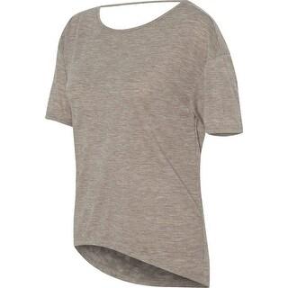 Alternative Womens Pony Melange Burnout T-Shirt w/ Back Strap - Dirty Heather - Small - dirty heather