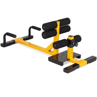 Link to Gymax 3-in-1 Sissy Squat Push Up Ab Workout Home Gym Sit Up Machine Similar Items in Cardio Equipment