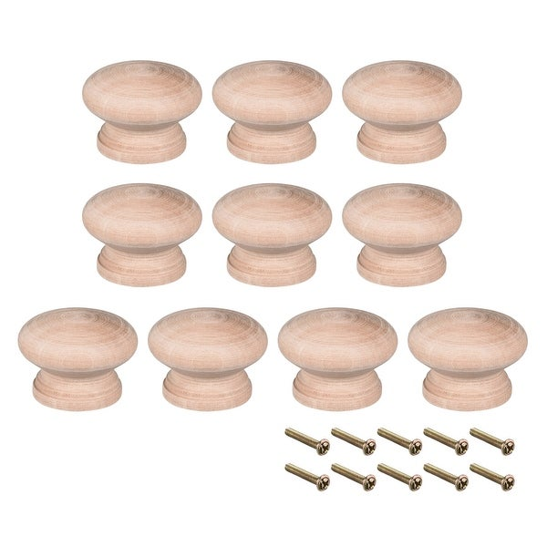Round Pull Knob Handle 45mm Dia Traditional Cabinet Furniture Drawer 10pcs