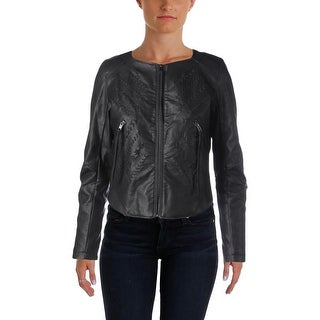 [BLANKNYC] Womens Jacket Faux Leather Stitched