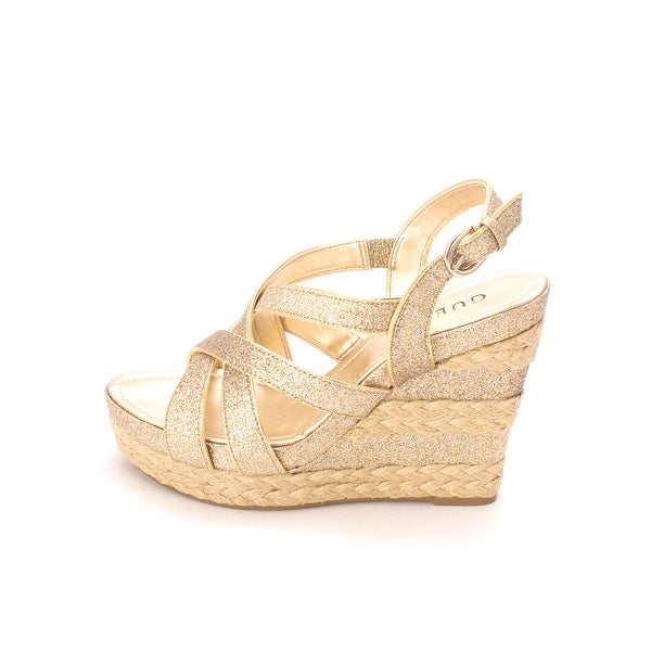 GUESS Womens Jeanelle Open Toe Special Occasion Platform Sandals - 8.5