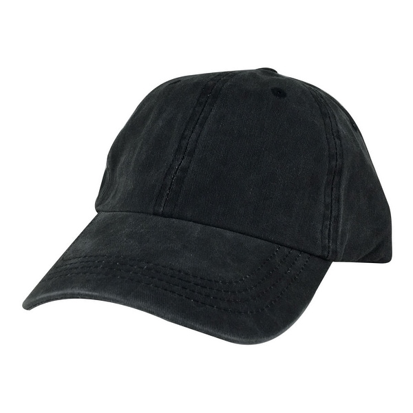 Skateboard Cotton Dye Unstructured Dad Cap Adjustable Strapback Hat Black