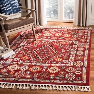 Link to Safavieh Farmhouse Holli Boho Tribal Polyester Rug Similar Items in Rugs