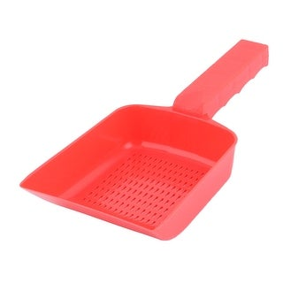 Cat Dog Puppy Plastic Nonslip Pet Cleaning Tool Shovel Sand Waste Scoop Red