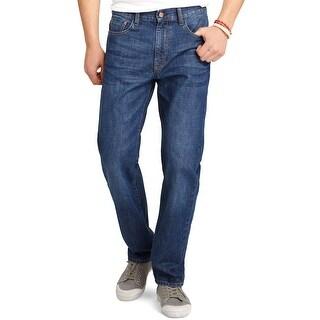 Izod Regular Fit Straight Leg Cotton Denim Jeans Dark Vintage Blue 36 x 30