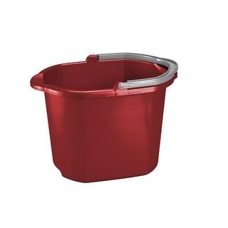 Sterilite 11215806 Dual Spout Pail, Red, 16 Quart