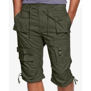 Sean John NEW Green Mens Size 32 Button-Front Flight Cargo Shorts