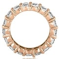 4.25 cttw. 14K Rose Gold Round Diamond Eternity Ring - Thumbnail 1