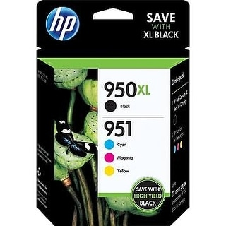 HP 950XL 951 Color Ink Cartridges, C/M/Y, Combo Pack (C2P01FN) - black and colors