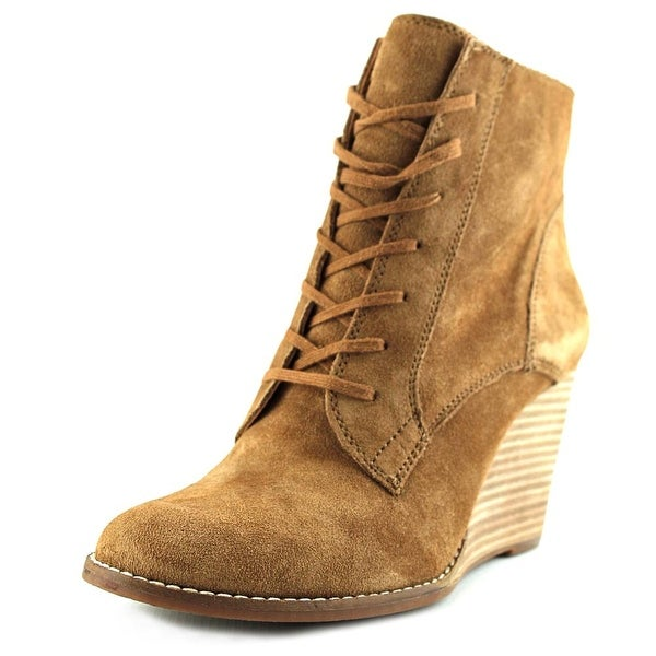 Lucky Brand Yelloh Women Round Toe Suede Bootie