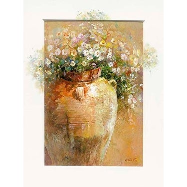 ''Flowers in a Pot II'' by Willem Haenraets Floral Art Print (31.5 x 23.5 in.)
