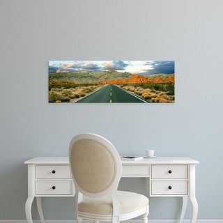 Easy Art Prints Panoramic Image 'Road passing through a landscape, Valley of Fire State Park, Nevada, USA' Canvas Art