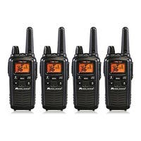 Midland Xtra Talk LXT600VP3 Two Way Radio w/ 36 Selectable Channels & 121 Privacy Codes- 4 Pack