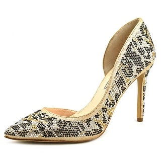 INC International Concepts Kenjay 3 Women Pointed Toe Synthetic Gold Heels