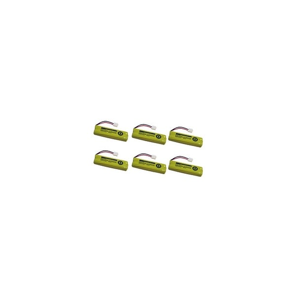 Replacement For VTech BT18443 Cordless Phone Battery (500mAh, 2.4v, NiMH) - 6 Pack