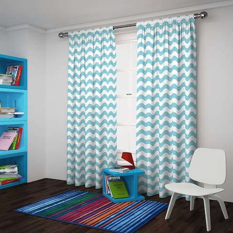 Eclipse Wavy Chevron Room Darkening Curtain Panel