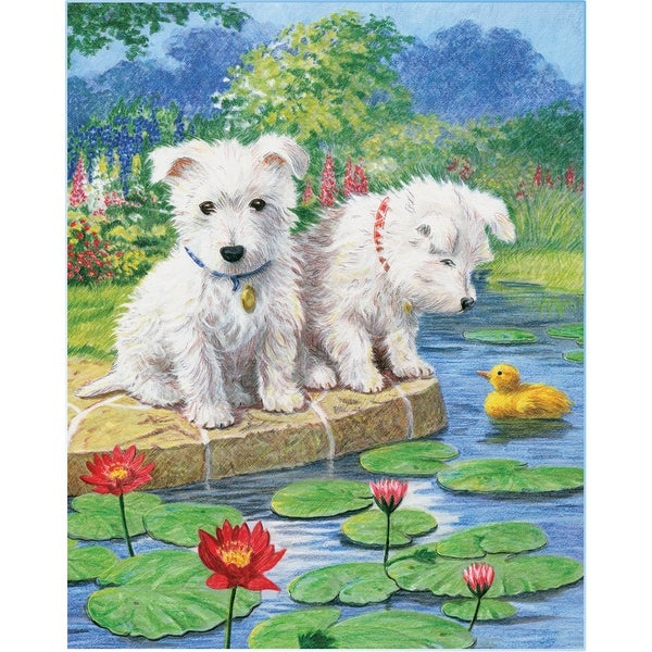 """Color Pencil By Number Kit 8.75""""X11.75""""-Westie Pups"""
