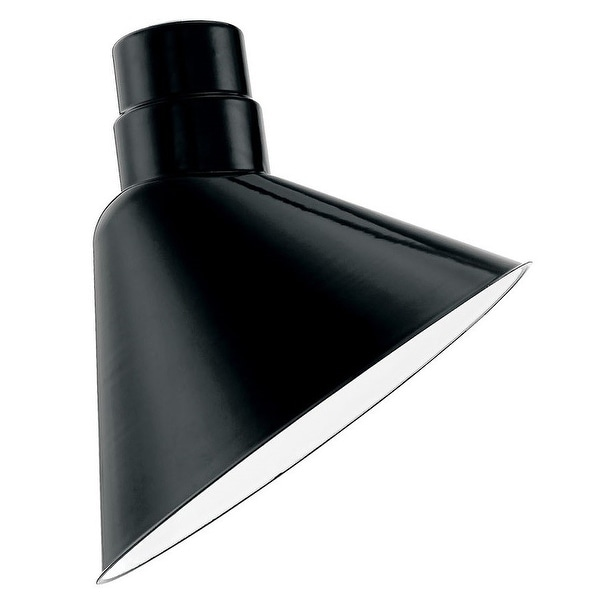 "Millennium Lighting RAS10P R Series 10"" Wide Porcelain Outdoor Angle Shade - N/A"