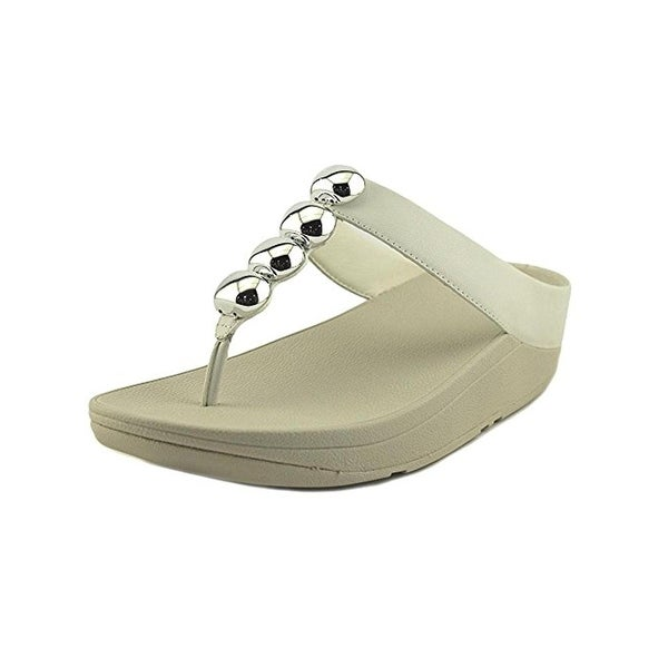 Fitflop Womens Rola Flip-Flops Leather Wedge