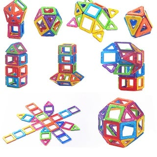 Kanstar 30PCS Magnetic Building Blocks, Square, Triangle, Large Triangle - Deluxe Building Set