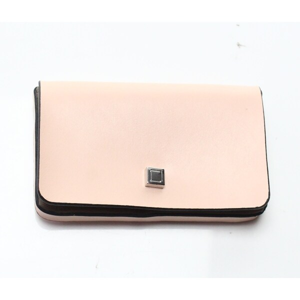 reputable site 51680 e884d Lodis Pink Leather Envelope Business Credit Card Holder Wallet