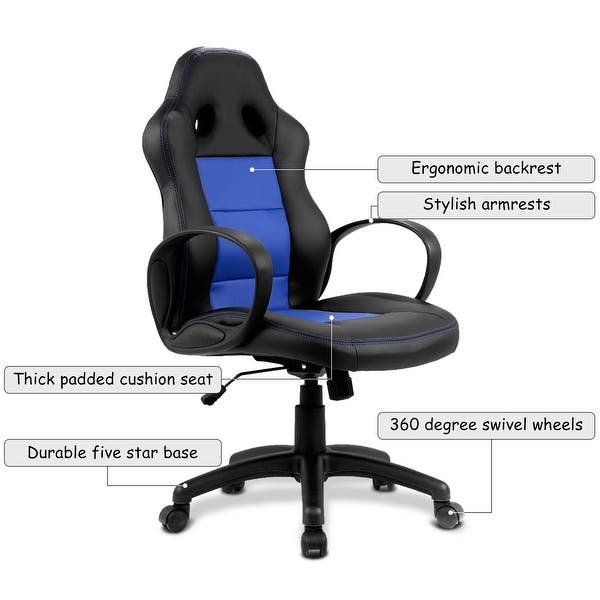 Shop Costway High Back Race Car Style Bucket Seat Office ... on xbox game chair, race car couch, race car barber chair, race car business card holder, race car high chair, race car rocking chair, black and white striped dining chair, race car tv, race car drafting chairs, race chair office chair, pitstop chair, race car computer chair, race car lounge chair, race car paper, race car office supplies, race car furniture, seat like chair, race car books, race car seats, racing chair,