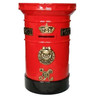 """Christmas at Winterland WL-MAILBOX 36"""" Tall Polyresin Santa North Pole Mail Box"""