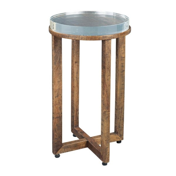 Hekman 27627 14 Inch Wide Wood End Table With Acrylic Top Special Reserve Free Shipping Today 21163878