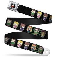 The Big Bang Theory Full Color Black White Red Big Bang Theory Chibi Seatbelt Belt