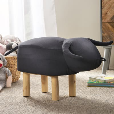 Clawson Contemporary Kids Bull Ottoman by Christopher Knight Home