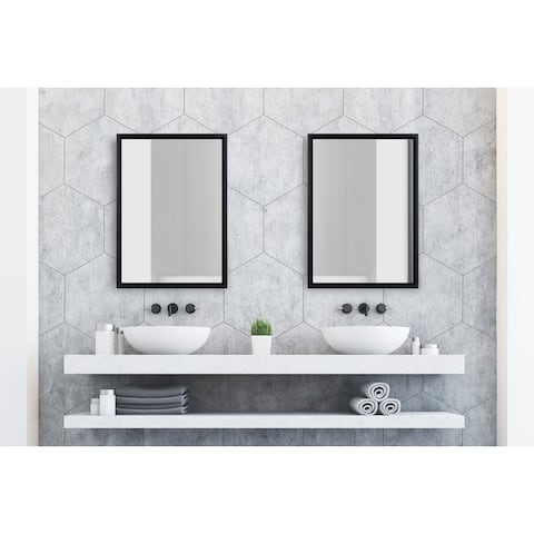 Kate and Laurel Evans Framed Floating Wall Mirror