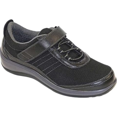 Orthofeet Women's Breeze Sneaker Black Synthetic