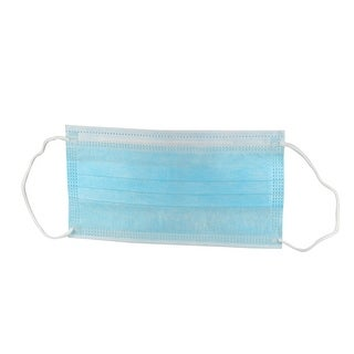 50Pcs Two Layer Activated Carbon Mask Filter Anti Dust Disposable Face Mask Blue
