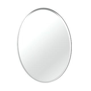 "Gatco 1801 32"" x 24"" Frameless, Flush Mount Oval Mirror - Clear"