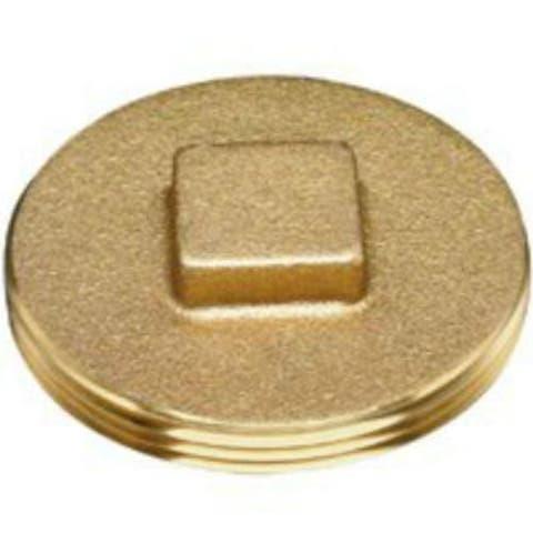 """Oatey 42371 Brass Cleanout Plug, 2-1/2"""""""