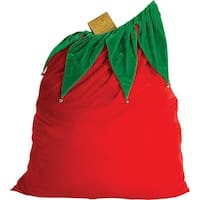 Santa Toy Bag Costume Accessory - Red