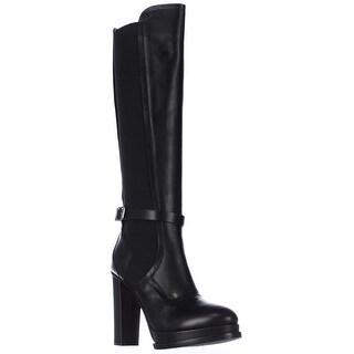 No21 8364 High Heel Platform Knee High Boots - Black