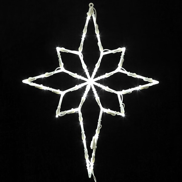 "18"" Lighted LED Star of Bethlehem Christmas Window Silhouette Decoration"