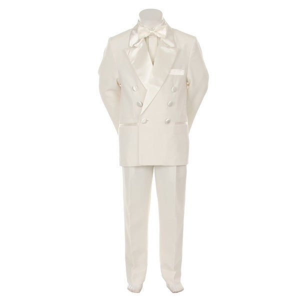 Kids Dream Ivory Formal 4 pcs Special Occasion Boys Tuxedo 2-4T - 2t