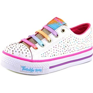 Twinkle Toes By Skechers Twirly Toes Youth Round Toe Canvas Sneakers