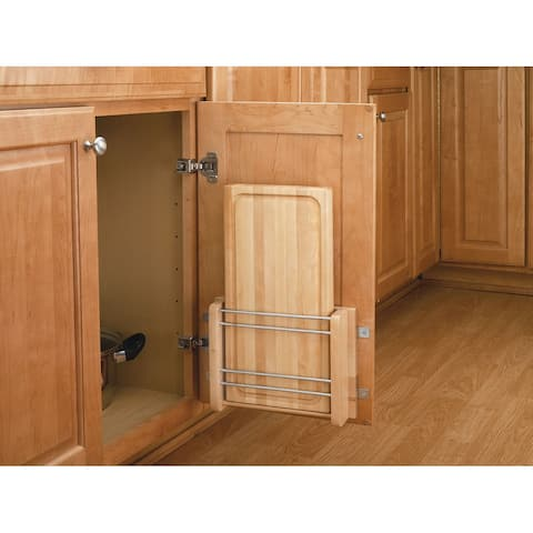 "Rev-A-Shelf 4DMCB-15 4DMCB Series Door Mount Cutting Board for 15"" Base Cabinet - - Natural Wood"