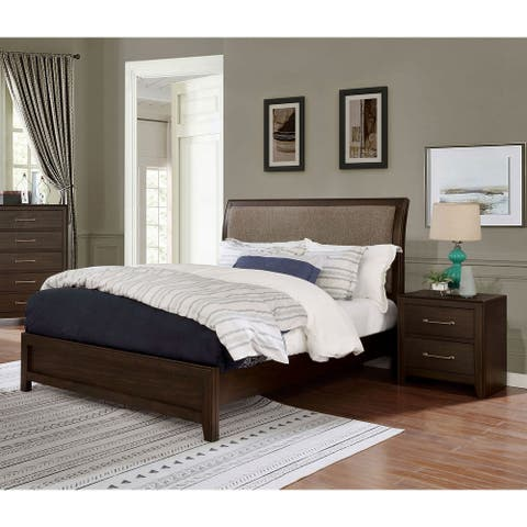 Furniture of America Yra Transitional Walnut 2-piece Bedroom Set