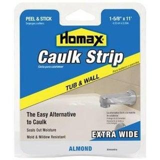 """Homax 2403 Tub & Wall Caulkstrip, Almond, 1-5/8"""" x 11'"""