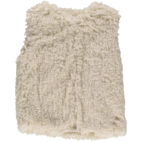 Lucy Paris Womens Vest Faux Fur Shaggy