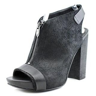Fergie Rowley Women  Open Toe Leather Black Platform Heel