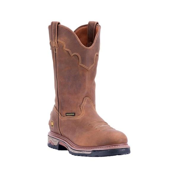 Dan Post Western Boots Mens Round Unit Waterproof Saddle